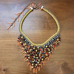 Zara Beaded Bib Necklace